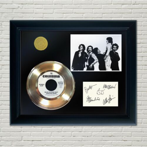 Blue Oyster Cult Framed 45 Gold Record Reproduction Signature Display 2