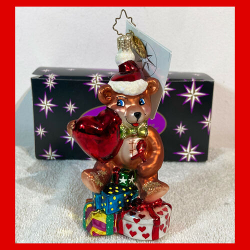 Rare CHRISTOPHER RADKO Christmas Ornament HEARTFELT JOY 2002 AIDS CHARITY