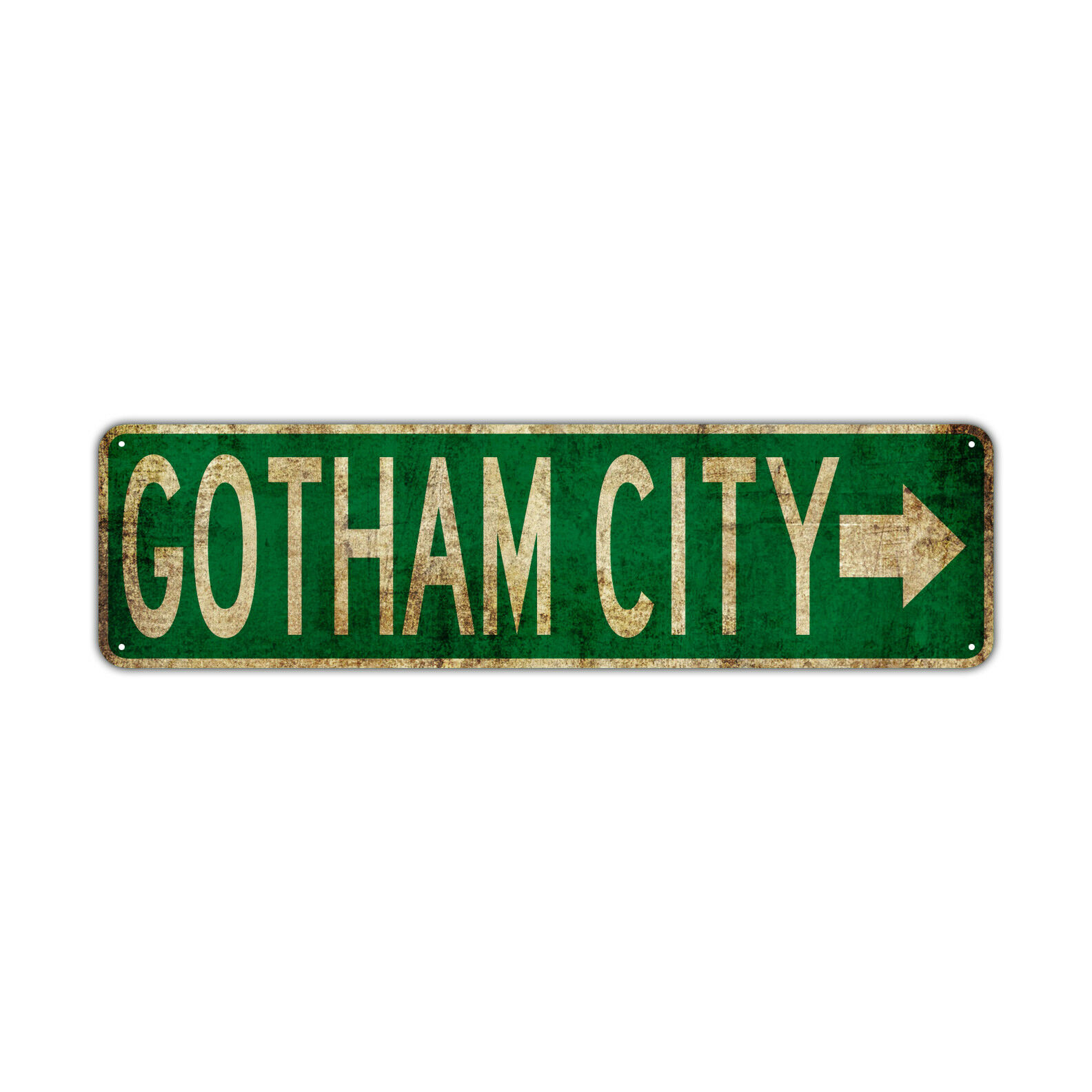 gotham city with right arrow decor wall