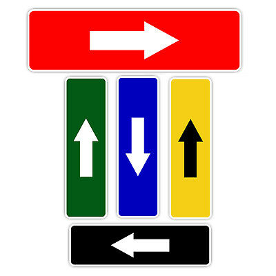 Arrow Direction Left Right Down Up Aluminum Metal Sign ()
