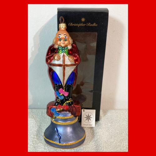 Rare CHRISTOPHER RADKO Christmas Ornament PHILADELPHIA STORY Ben Franklin 1998