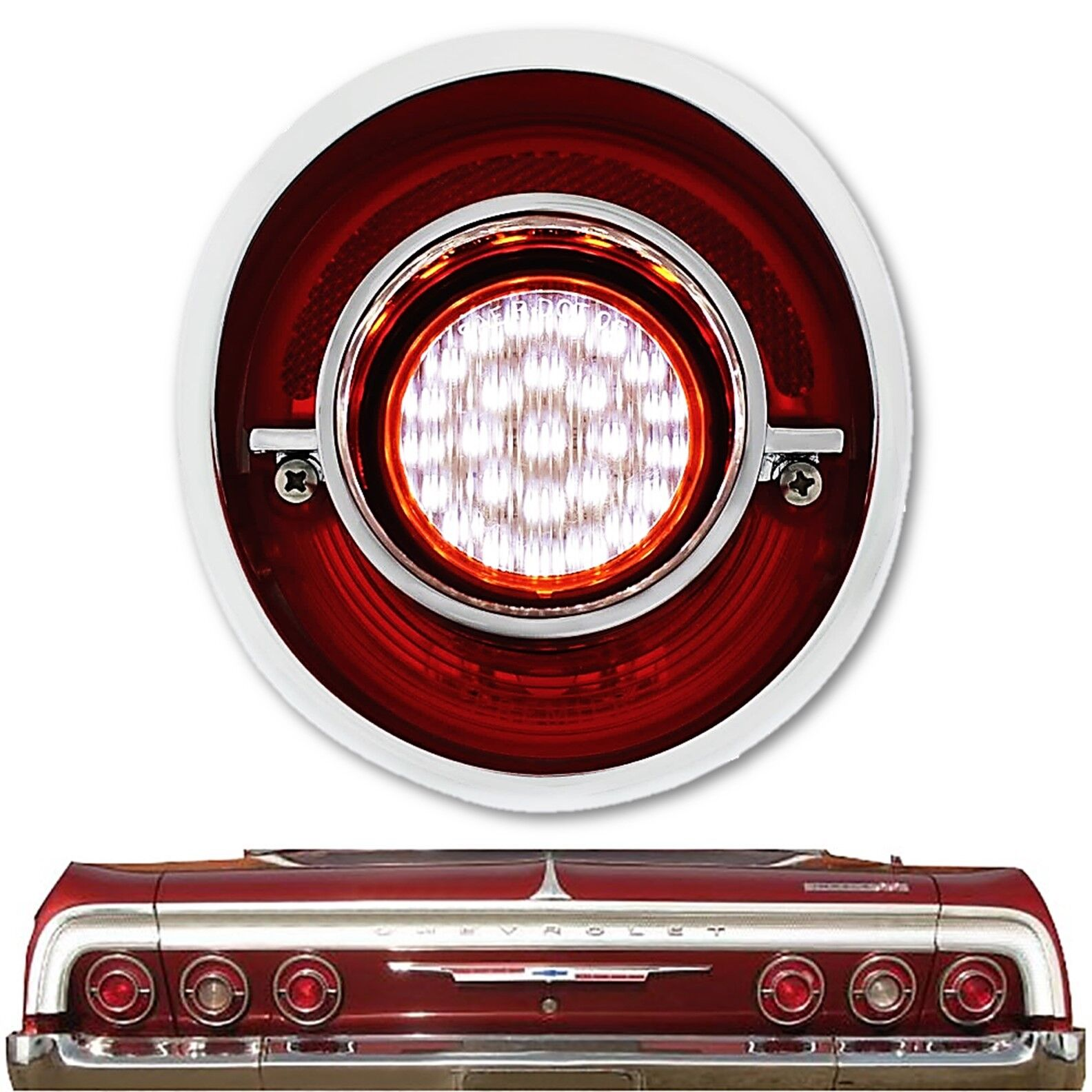 1939 Chevy Truck Tail Light With Housing Left Primered