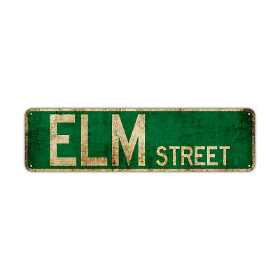 - ELM Street Decor Wall Man Cave Bar Rustic Vintage Retro Metal Sign