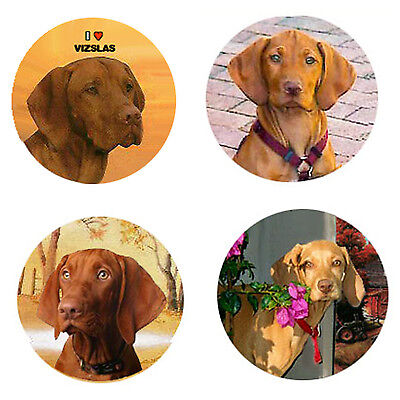 Vizsla Magnets: 4 Way-Cool Vizslas for your Fridge or Collection-A Great Gift