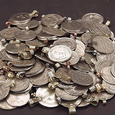 20 real COINS Tribal Belly Dance Kuchi LARGE ((polished))
