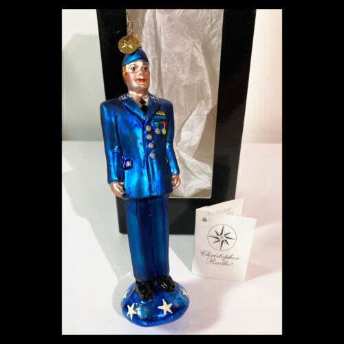 Rare CHRISTOPHER RADKO Christmas Ornament BRAVE AND TRUE AIR FORCE Retired 2002