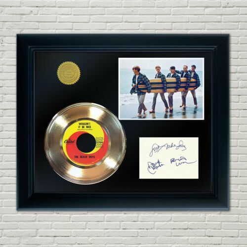 Beach Boys Framed 45 Gold Record Reproduction Signature Display 2