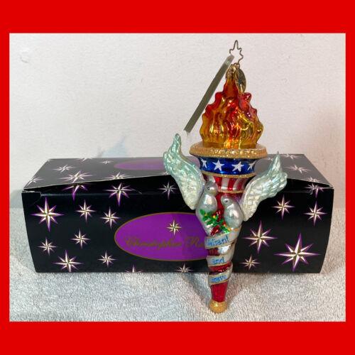 Rare CHRISTOPHER RADKO Christmas Ornament VALIANT AND BRAVE 9/11 Tribute