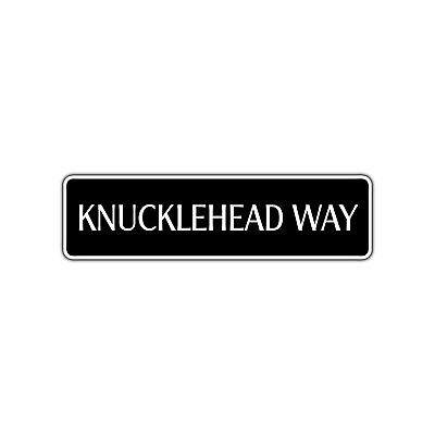 Harley Davidson Room Decor (Knucklehead Way Novelty Street Sign Harley Davidson Biker Cave Bar Wall)