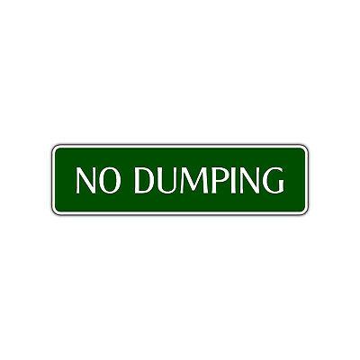 No Dumping 24 Hour Surveillance Wall Decor Novelty Street Aluminum Metal Sign