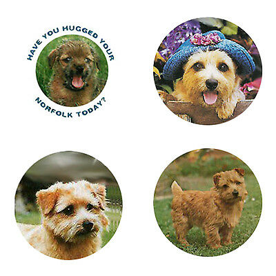 Norfolk Terrier Magnets:4 Norfolks for your Fridge or Collection-A Great Gift