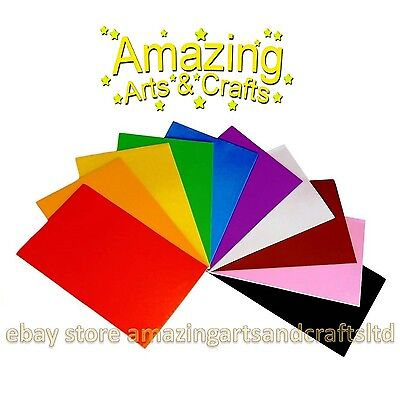 Foam Sheets A4 Eva Craft Pack 10 sheets assorted colours Amazing Arts and Crafts