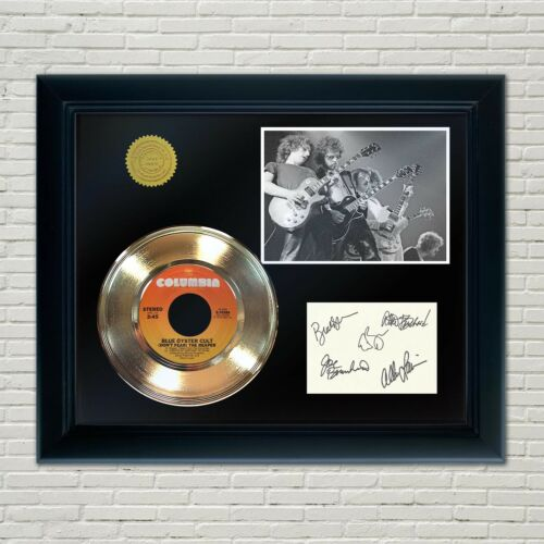 Blue Oyster Cult Framed 45 Gold Record Reproduction Signature Display