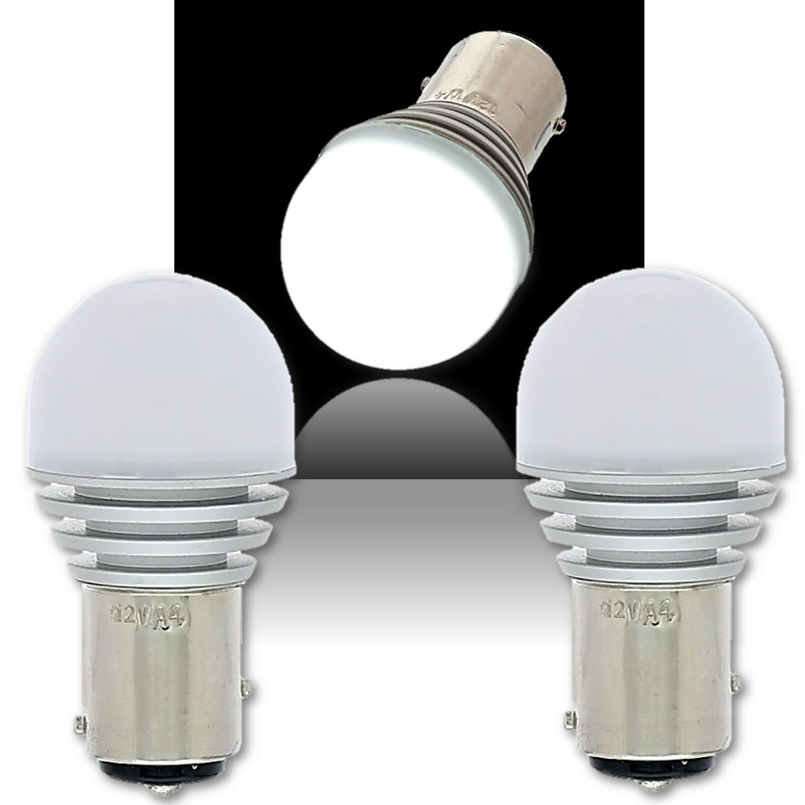 #1157 Amber LED 12V Park Tail Light Brake Stop Turn Signal Lamp Bulb Pair 7.3
