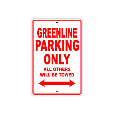 Greenline Parking Only Boat Ship yacth Marina Lake Dock Aluminum Metal Sign