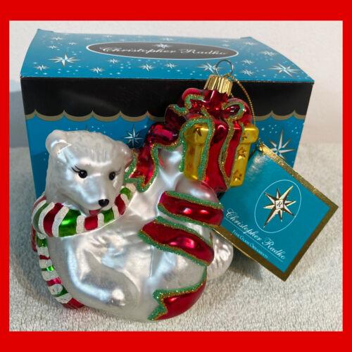 Rare CHRISTOPHER RADKO Christmas Ornament POLAR BEAR Balancing Act 2005 Retired