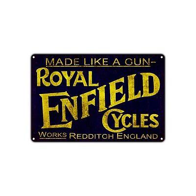 Royal Enfield Cycles England Vintage Retro Metal Sign Decor Art Shop Bar