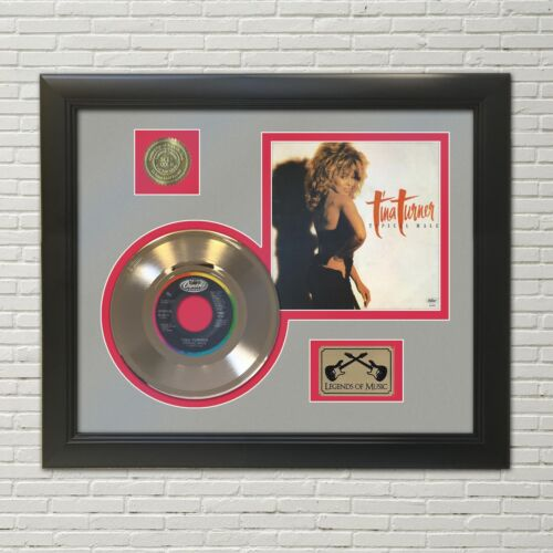 Tina Turner Typical Male Framed Picture Sleeve Gold 45 Record Display