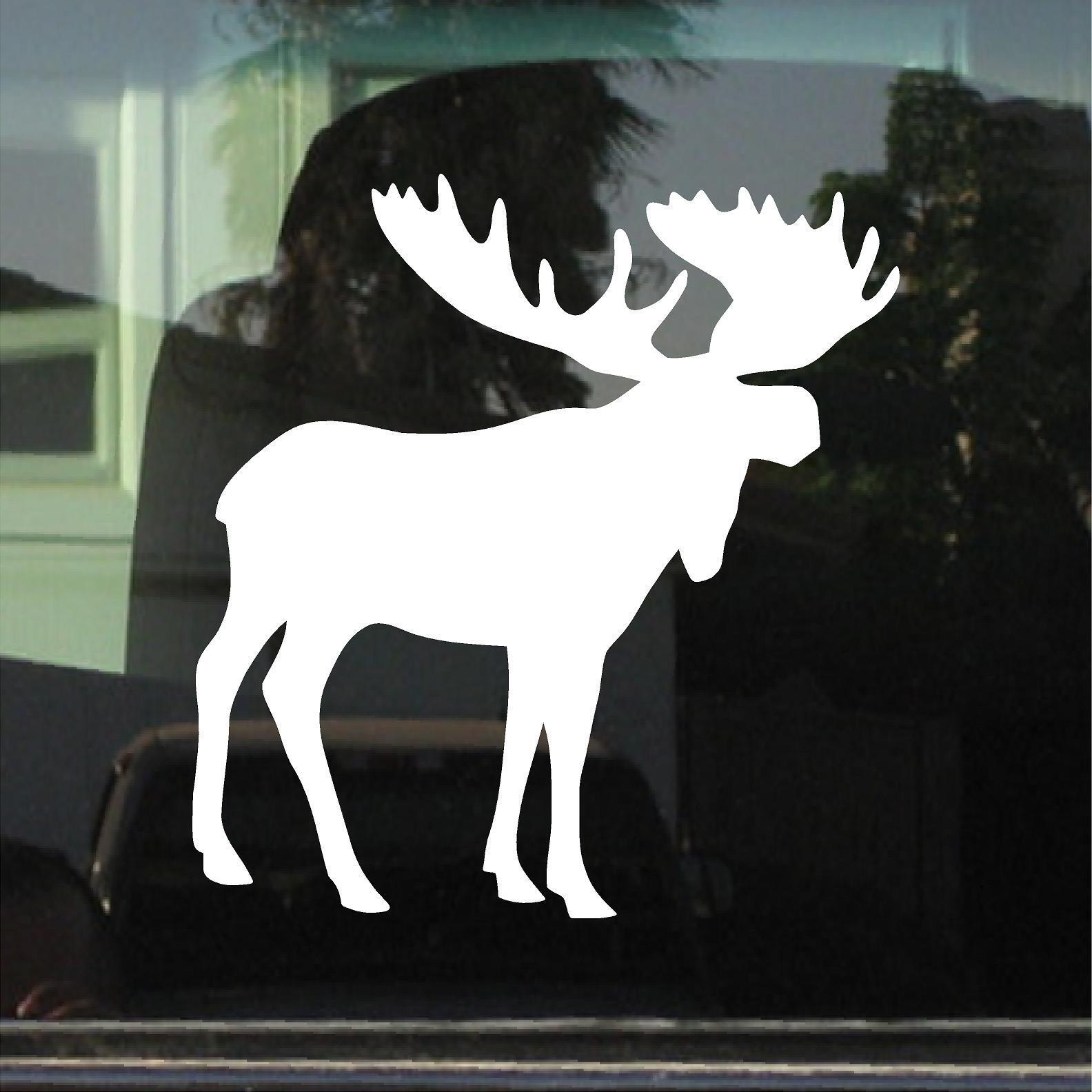 Home Decoration - MOOSE CAR WINDOW LAPTOP VINYL DECAL / STICKER