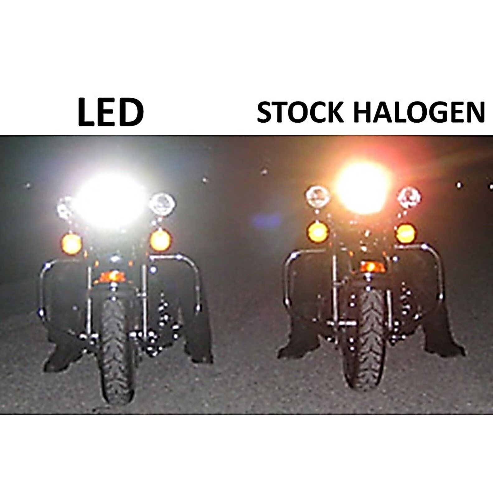 "5-3/4"" Motorcycle Amber COB Halo Crystal Clear Headlight & H4 6k LED Bulb Single"