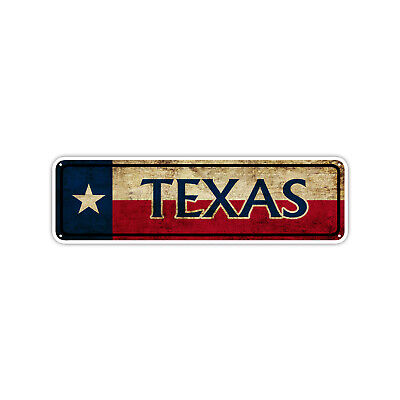 Texas State Flag Usa Vintage Look Street Sign Road Wall Art Gift
