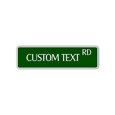 Personalized Text And Road Custom Designed Novelty Any Color Aluminum Metal Sign