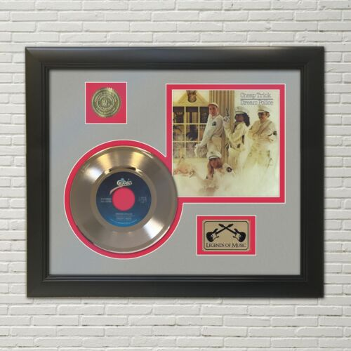 Cheap Trick Dream Police Framed 45 Picture Sleeve Record Display.