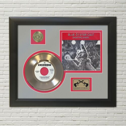 Blue Oyster Cult Framed Picture Sleeve Gold 45 Record Display