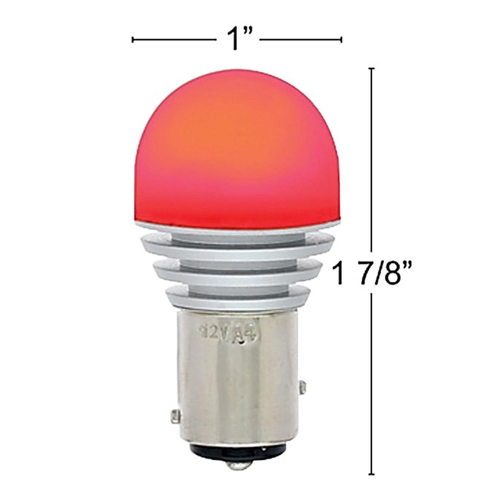 #1157 Amber LED 12V Park Tail Light Brake Stop Turn Signal Lamp Bulb Pair 7.5