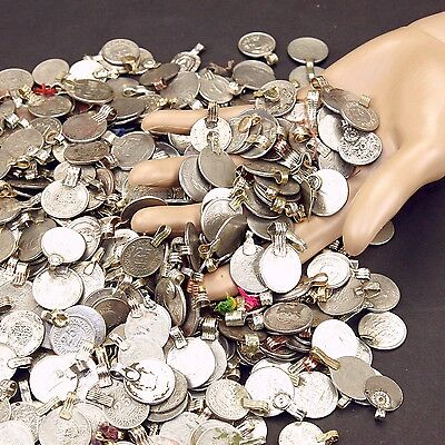 300 real COINS Tribal Belly Dance Kuchi Tribe SMALL ((polished))