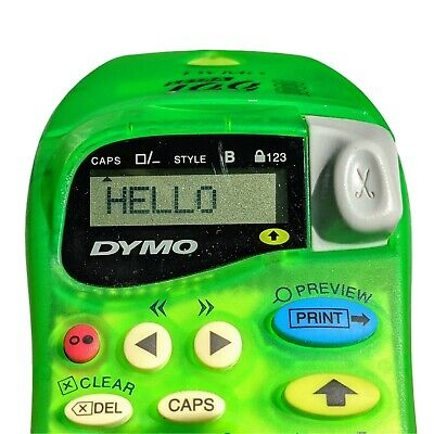 Dymo Letra Tag 2000 Label Maker - Handheld - Green - Tested Working