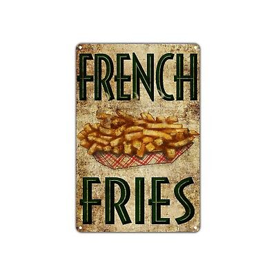Frech Fries Restaurant Vintage Retro Metal Sign Decor Art Shop Man Cave Bar