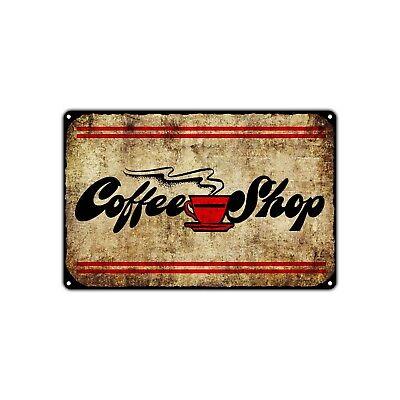 Coffee Shop Decor Wall Art Shop Man Cave Bar Vintage Retro Metal Sign