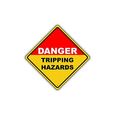 Tripping Hazard (Danger Tripping Hazard OSHA Metal Aluminum Sign Xing Yield 12x12 )