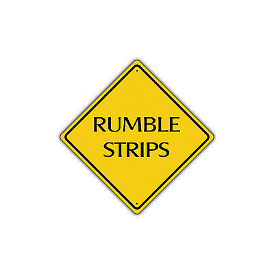 Warning Rumble Strips Ahead Metal Aluminum Sign 12x12 Safety (Rumble Strips)