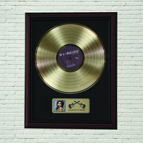 """Amy Winehouse """"Back To Back"""" Framed Cherry Wood LP Record Display M4"""