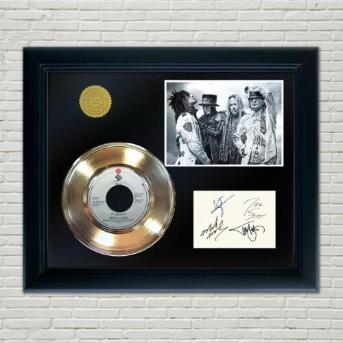Motley Crue Framed 45 Gold Record Reproduction Signature Display