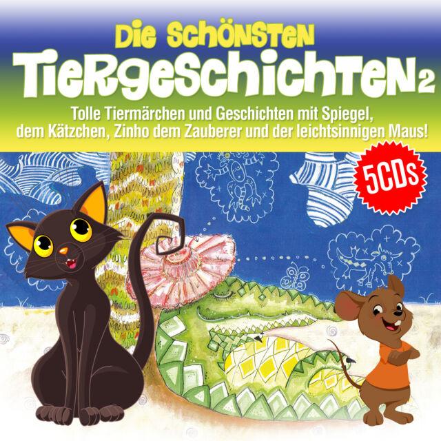 Die schönsten Tiergeschichten 2 (5CDs) incl. Spiegel, das Kätzchen; Tiermär- Neu