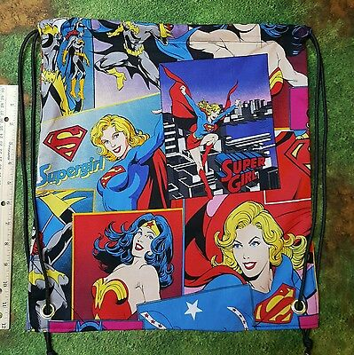 Wonder Woman, Super Girl, Batgirl large print cinch sack backpack - Batgirl Backpack