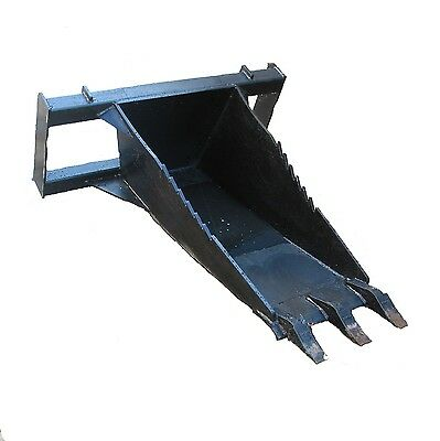 Hd Extended Stump Bucket W Teeth For Skid Steer