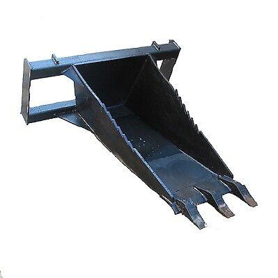 Hd Extended Stump Bucket W Teeth For Skid Steer