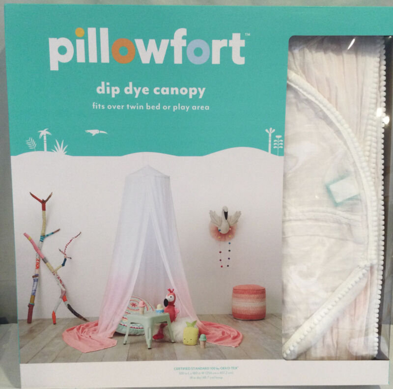 Pillowfort Dip Dye  Canopy-New in Box-Fits Twin Bed-or Play Area