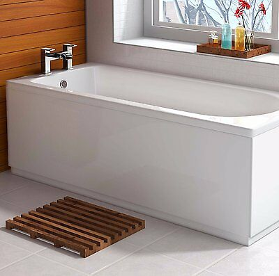 VeeBath Linx Front 1700mm Bath Panel High Gloss White- Adjutable Plinth MDF