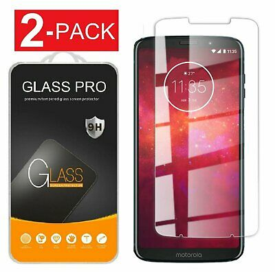 2-Pack Premium Tempered Glass Screen Protector for Motorola Moto Z3 Z3 Play Cell Phone Accessories