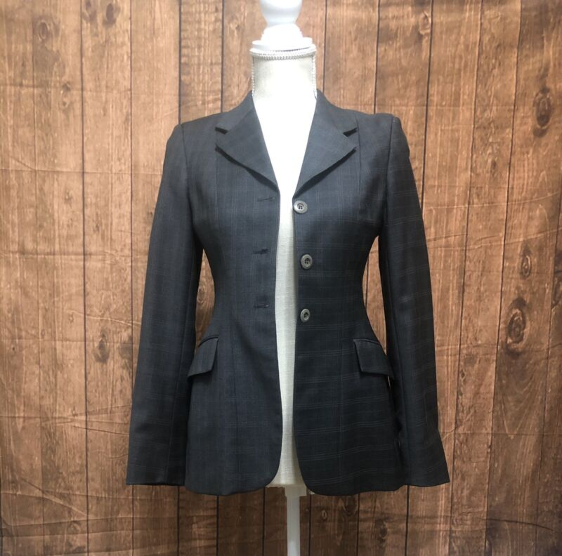 Gray with Striping Grand Prix Show Coat Size 8