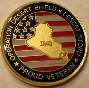 Operation Desert Shield  Storm Veteran Challenge Coin S