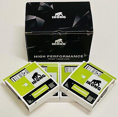4 Pack 45013 Label Maker Tape 12 X 23 For Dymo D1 Label Makers Black On White