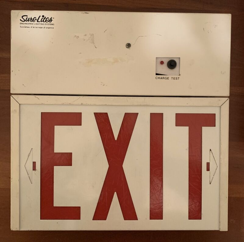 Sure-Lites EXIT Emergency Lighting Sign w/Chargeable Battery Pack