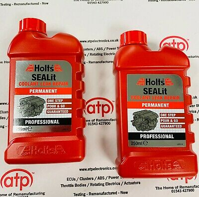 2x Holts Sealit Professional Permanent Car Radiator & Coolant Leak Repair 250ml