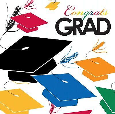 Graduation Lunch Napkins Multi Color 18ct Decoration Favor Party Supplies - Graduation Napkins